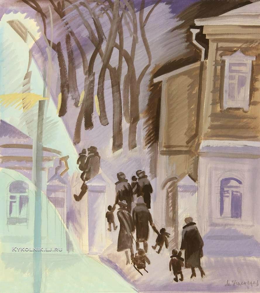 1980 Успенская Марина Евгеньевна (1925-2007) «Зимнее утро»