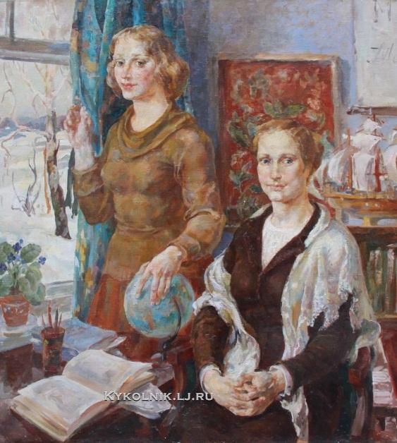Савельева Валентина Петровна (Россия, 1938) «Сельские учителя» 1978