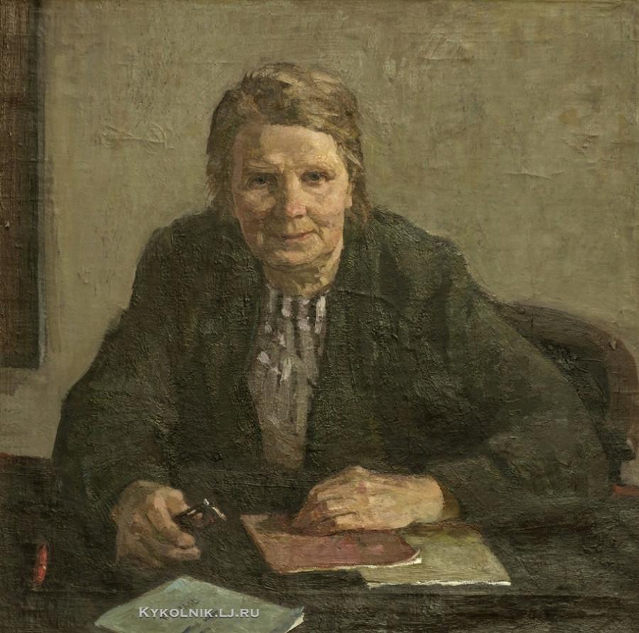Симберг Вольф Бенетович (1913–1996) «Портрет учительницы Шовгаловой» 1979