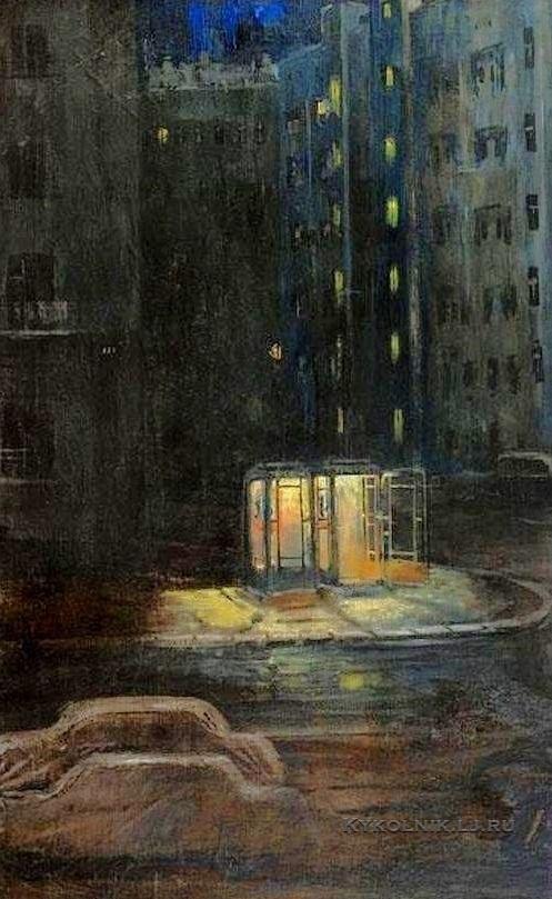 Пименов Юрий Иванович (1903-1977) «Ночные телефоны» 1960-е