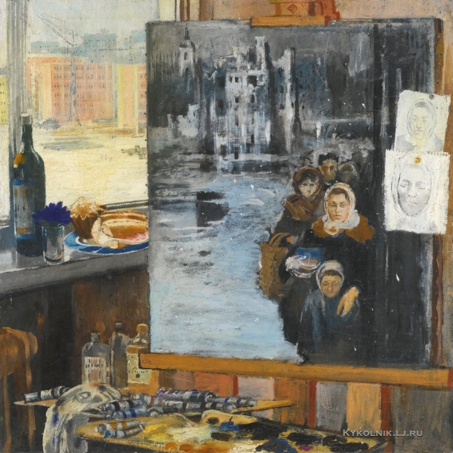 Пименов Юрий Иванович (1903-1977) «Воспоминание о военном пайковом хлебе» 1963