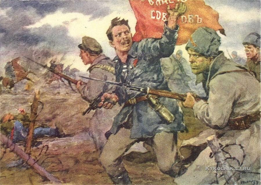 Бескаравайный Владимир Митрофанович (1930-1997) «За власть советов!» 1957