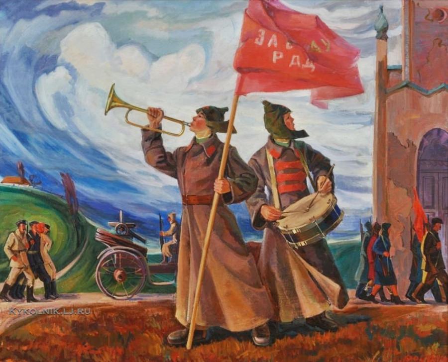 Бондарь Иван Иванович (Украина, 1944) «Революция» 1977