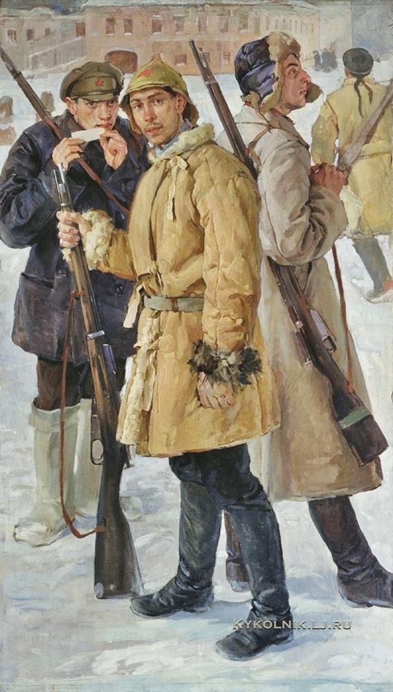 Дроздов Иван Георгиевич (1880-1939) «Первые красноармейцы. 1918 год» 1924 (2)