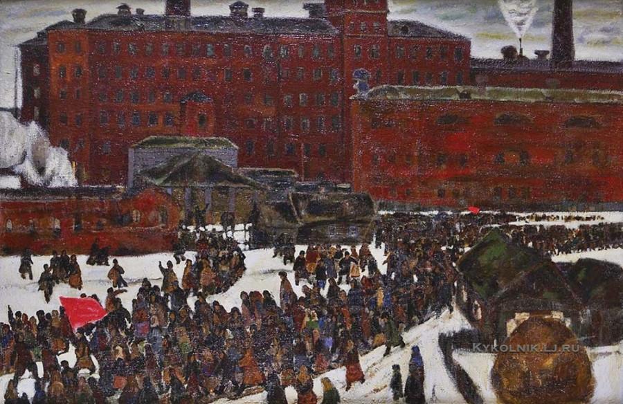 Кокурин Валерий Григорьевич (Россия, 1930) «Октябрь» 1970-е