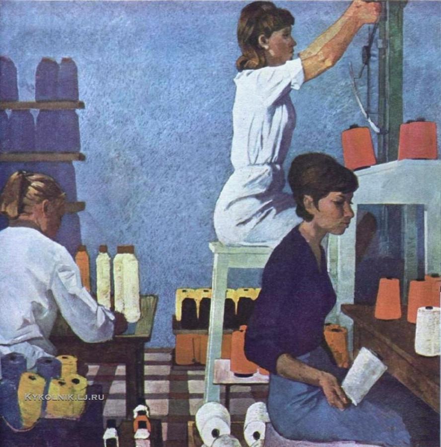 Крапивин Николай Никитич (1927–1997) «Клинские девчата»