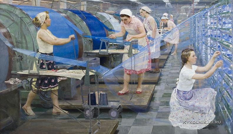 Кугач Михаил Юрьевич (Россия, 1939) «Подсобная текстильная работа» (2)