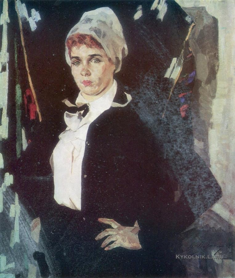 Малютин Марк Иванович (1919-1998) «Портрет прядильщицы Вали Смирновой» 1974