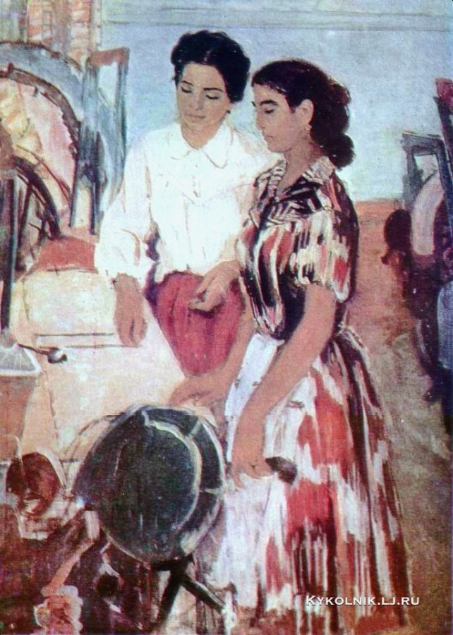 Рахимов Абдурахман (1933-2000) «Члены комсомольско-молодёжной бригады»