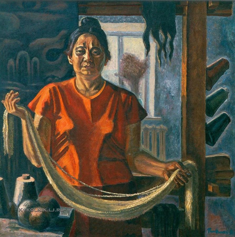 Ринчинов Солбон Раднаевич (1936-2014) «Портрет гобеленщицы С. П. Ринчиновой» 1988