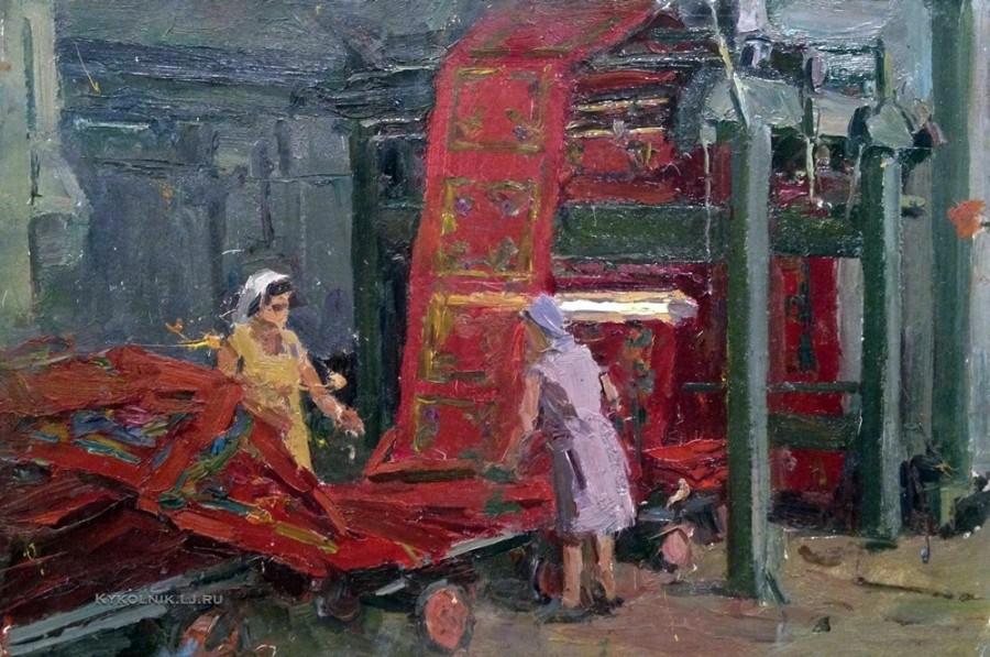 Рубинский Игорь Павлович (1919- 1996) «На платочной фабрике»