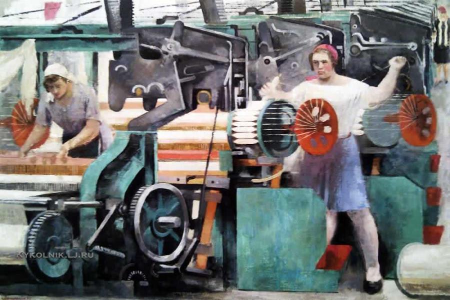 Самохвалов Александр Николаевич (1894-1971) «Ткацкий цех» 1930