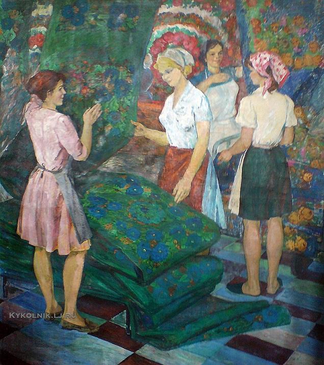 Титова Ольга Геннадиевна (Россия, 1937) «Ткачихи» 1970