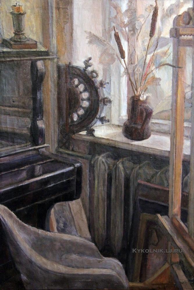 Абрамов Рудольф Федорович (1934-2012) «Натюрморт в интерьере»