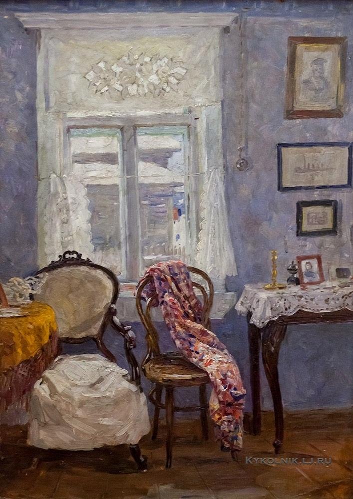 Баранчеев Михаил Сергеевич (1920-1996) «Интерьер на старой Кузнечихе» 1956