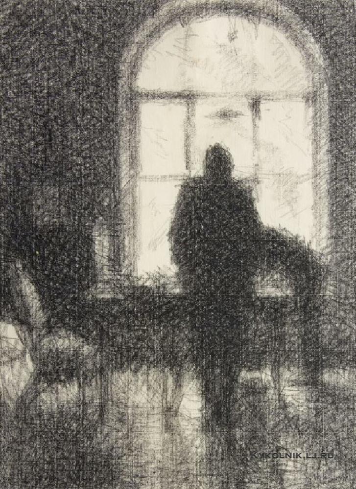Верейский Георгий Семенович (1886–1962) «Окно, сумерки» 1928