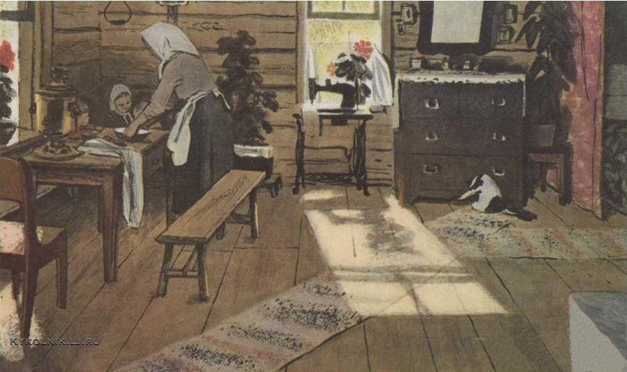 Верейский Орест Георгиевич (1915- 1993) иллюстрация к поэме А. Твардовского  «Дом у дороги» 1959