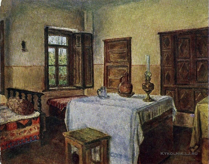 Гиневский Аркадий Осипович (1903-1958) «Гори. Комната в которой родился Сталин» 1952
