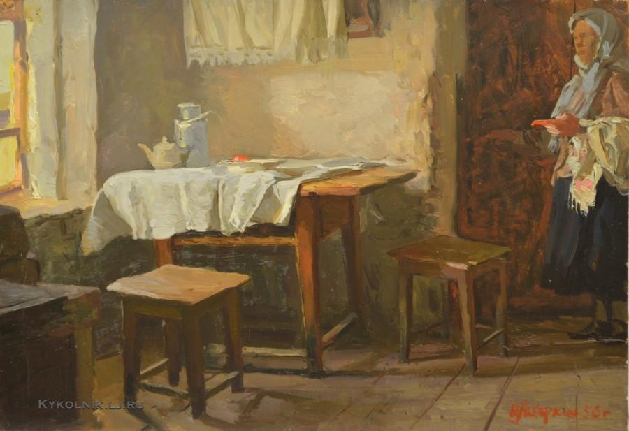 Захаркин Владимир Семенович (Россия, 1923) «Интерьер», 1956