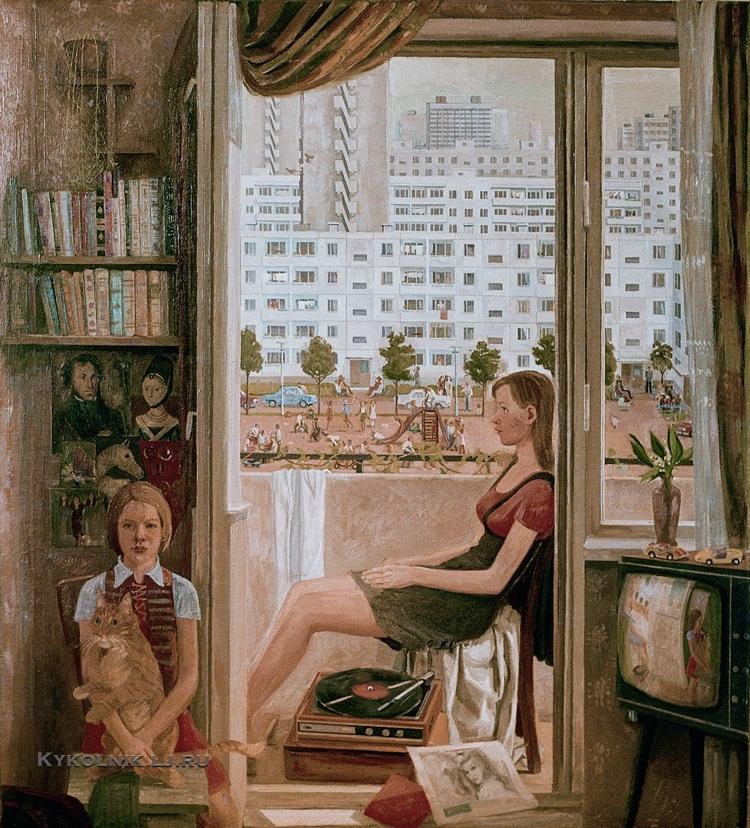 Казанцев Евгений Александрович  (Россия, 1948) «Воскресный день в Тольятти» 1984