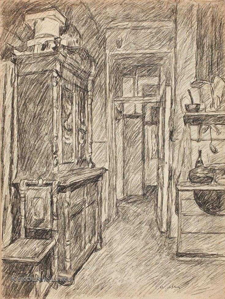 Львов Петр Иванович (1882- 1944) «Квартира» начало 1920-х