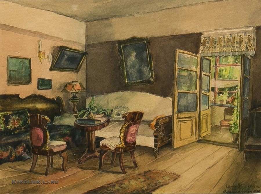 Ольшанецкая-Файдыш Лидия Ильинична (1924-) «Интерьер» 1939 ()