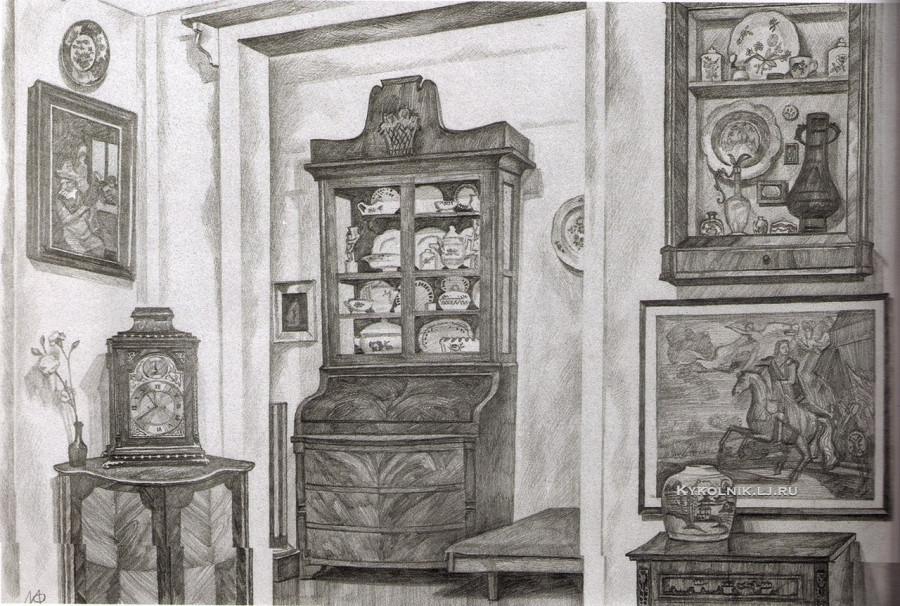 Финогенова Млада Константиновна (Россия, 1941) «Интерьер» 1979