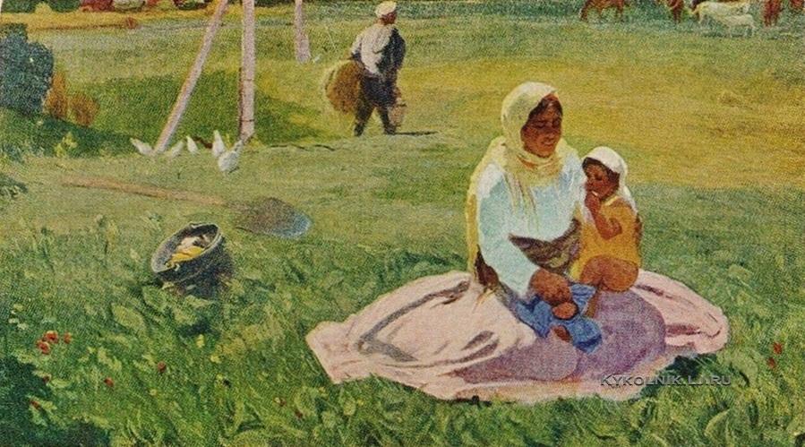 Абдуллаев Михаил (Микаэль) Гусейн оглы (1921-2002) «Радость» 1958