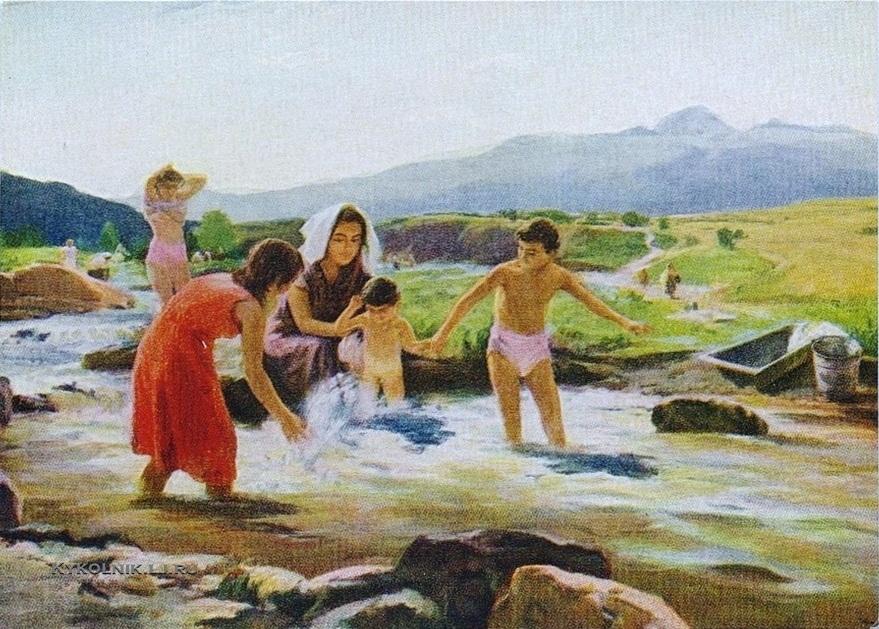 Бекарян Ара Вагинакович  (1913-1986) «На берегу реки» 1957