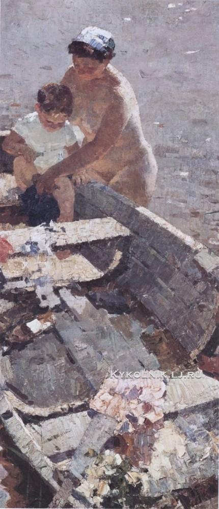 Беляев Дмитрий Васильевич (1921-2007) «На реке» 1961