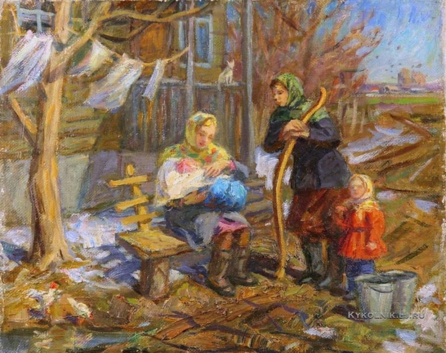 Власова Клара Филипповна (Россия, 1926) «Весна» 1960