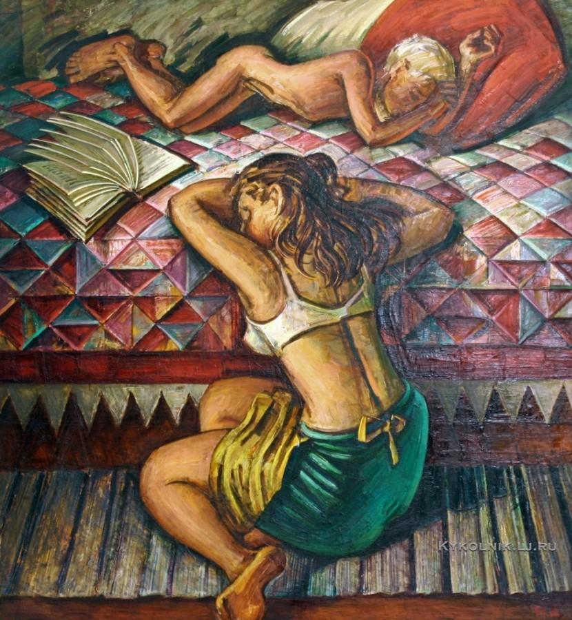 Данциг Май Вольфович (Белоруссия, 1930) «Жаркое лето детства» 1981а