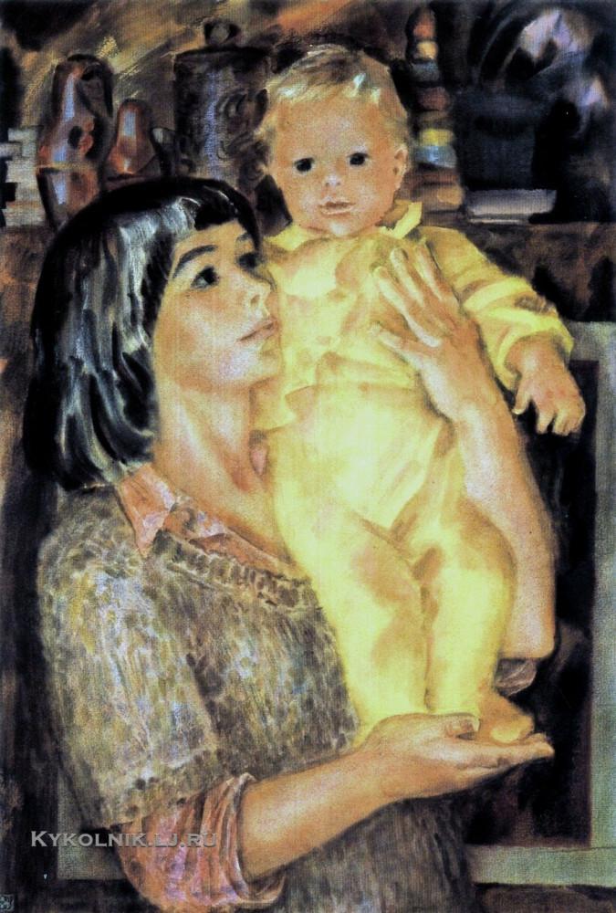 Елена Михайловна Успенская (Россия, 1946) «Мать с ребёнком» 1981