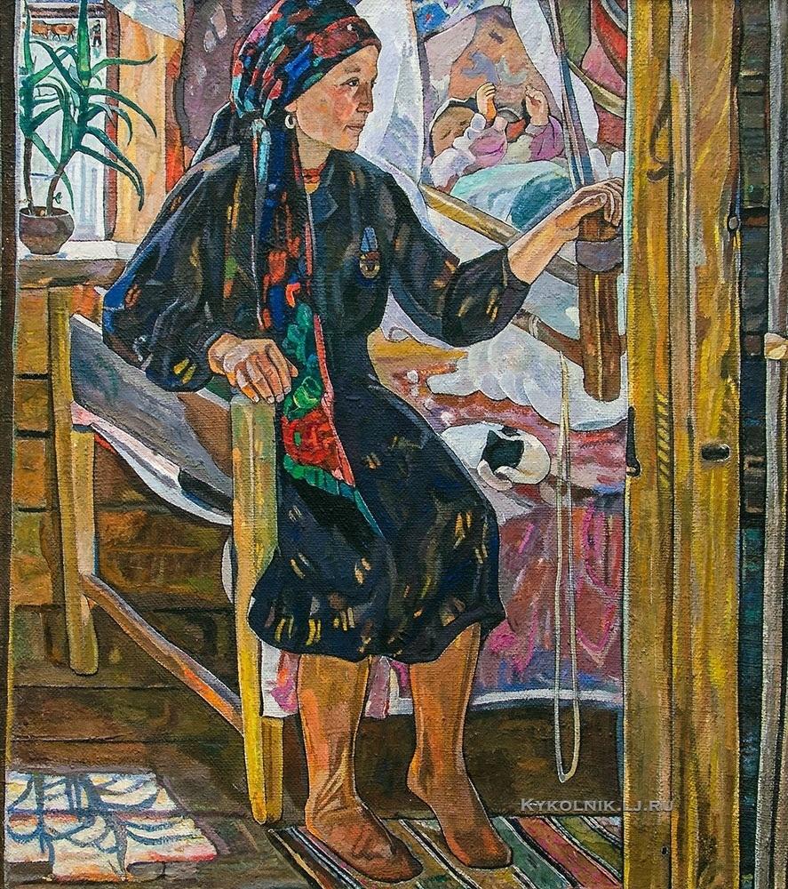 Кащеев Федор Александрович (Россия, 1934) «У колыбели» 1980-е