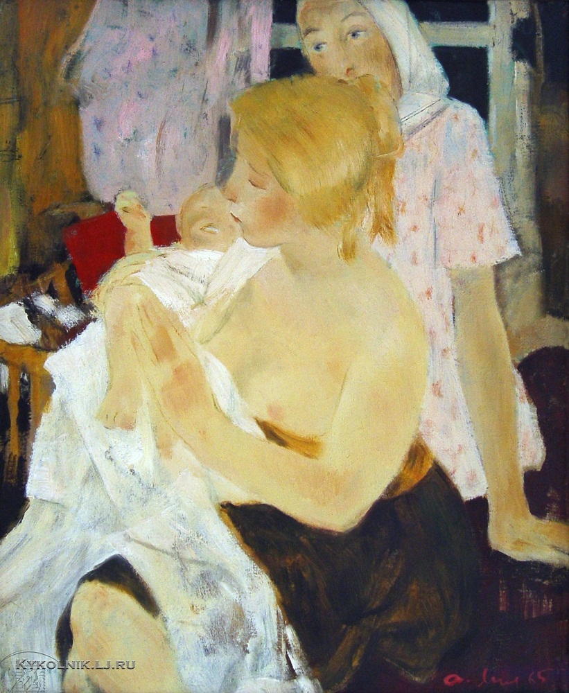 Мыльников Андрей Андреевич (1919-2012) «Мать» эскиз к картине «Сестры» 1965