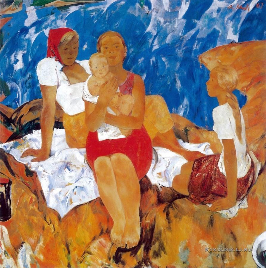 Мыльников Андрей Андреевич (1919-2012) «Сёстры» 1967