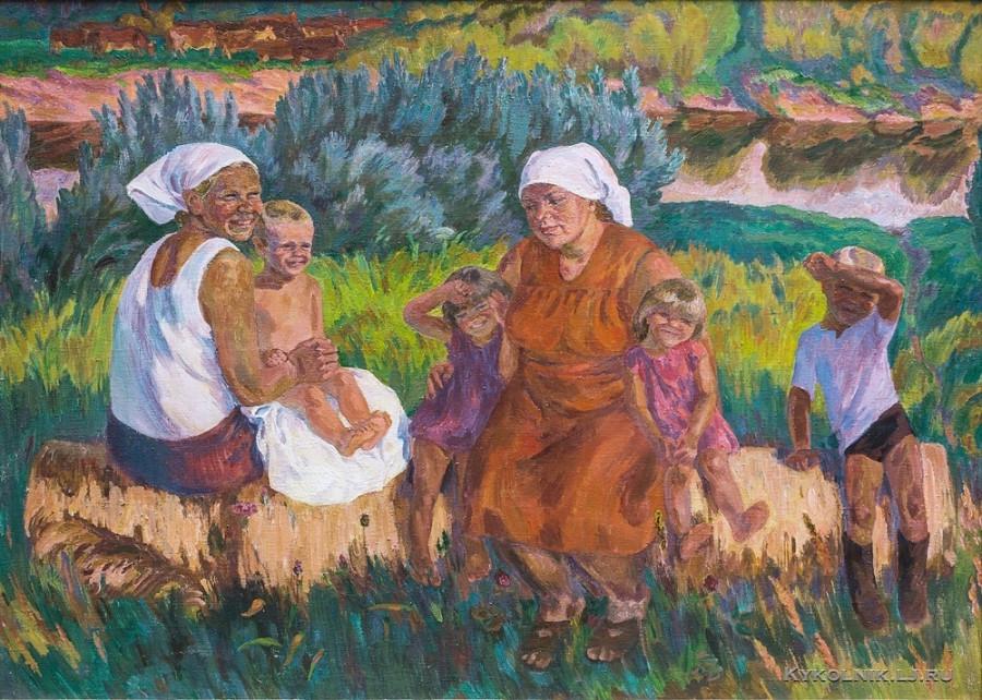 Назина Вера Ивановна (Россия, 1931) «Летний вечер» 1985