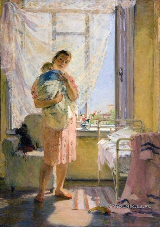 Рудницкая Мария Леонидовна (1916-1983) «Материнство» 1949