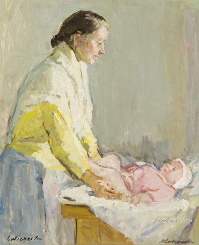 Савченкова Мария Владимировна (1917-) «Мать и дитя» 1963