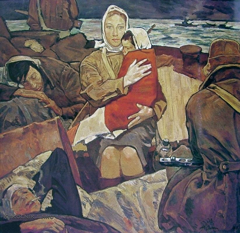 Самсонов Марат Иванович (1925-2013) «Дороги войны» 1975