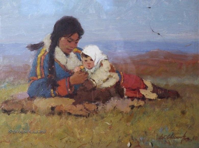 Свешников Дмитрий Константинович (1912-1997) «В тундре» 1982