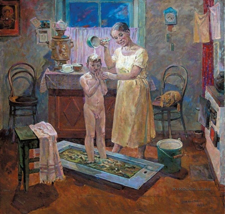 Хабленко Михаил Семёнович (Россия, 1928) «Из детства. Мама» 1982