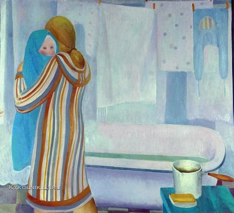 Шадрунова Зоя Геннадьевна (Россия, 1950) «Купание» 1978