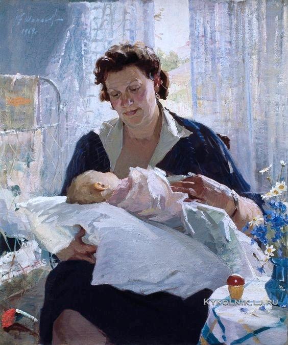 Шапаев  Фёдор  Васильевич  (Россия,  1927)  «Материнство»  1959-1969