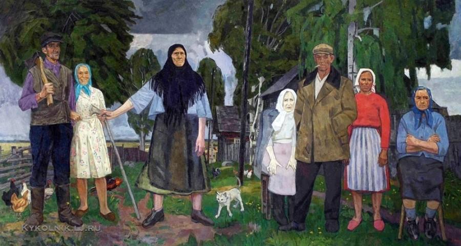 Горский Андрей Петрович (Россия, 1926) «Последние жители деревни Мартус» 1972