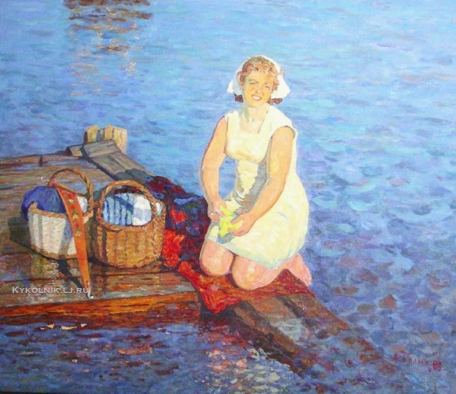 Белых Алексей Павлович (Россия, 1923) «На Волге вечером»