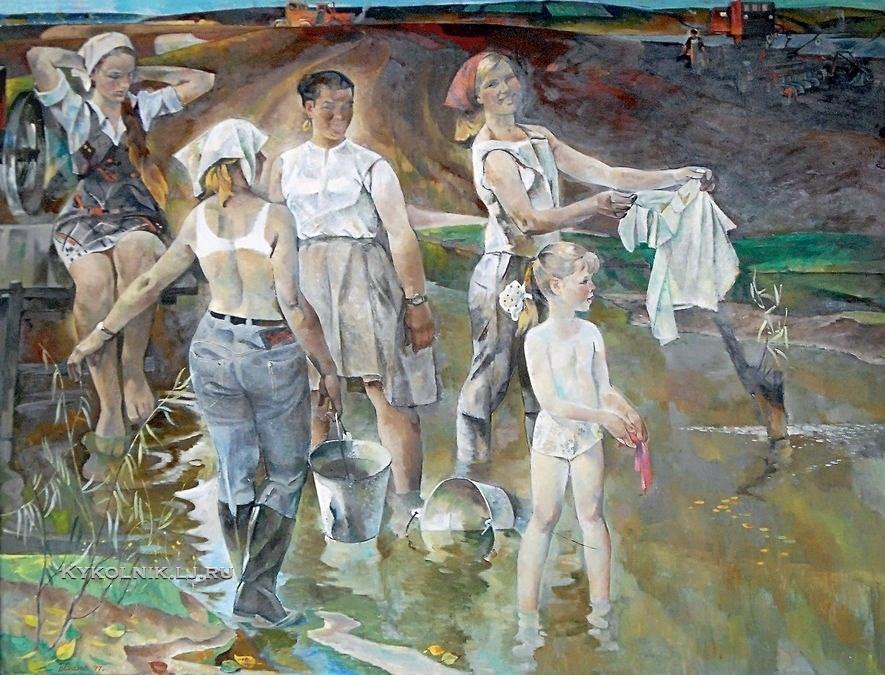 Вакс Борис (Бенцион) Иосифович (1912-1989) «Весенние будни 1977