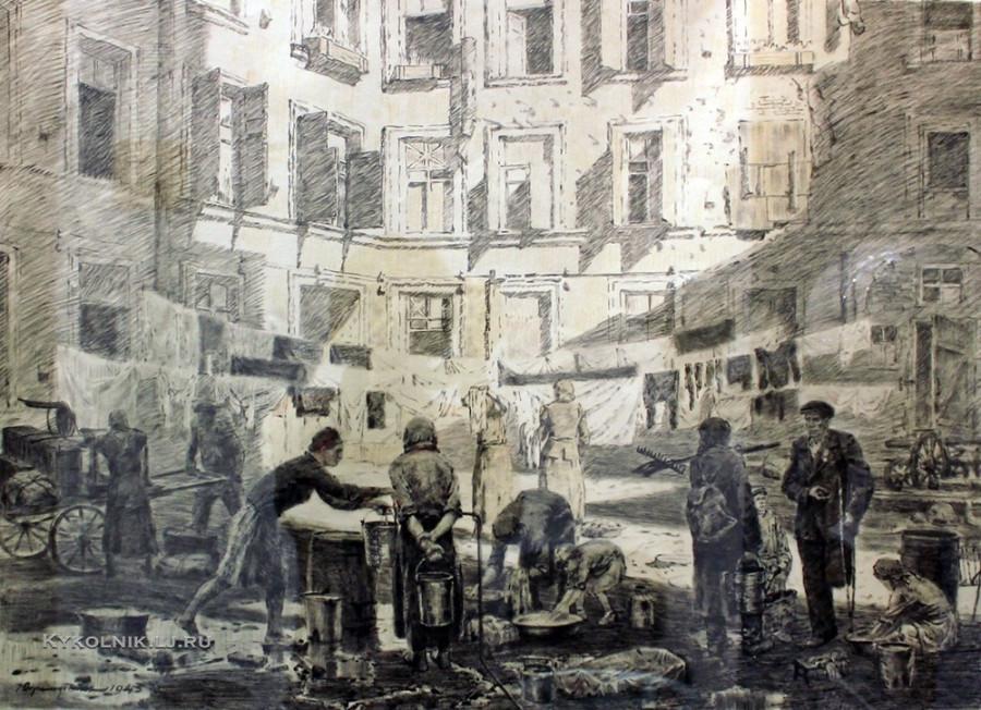 Дормидонтов Николай Иванович (1897–1962) из серии «Ленинград в дни блокады» 1943
