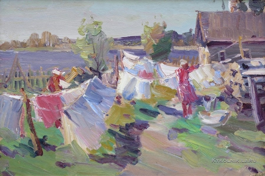 Калван (Кальван) Виталий Клементьевич  (1909-1965) «Ветренный день» 1951