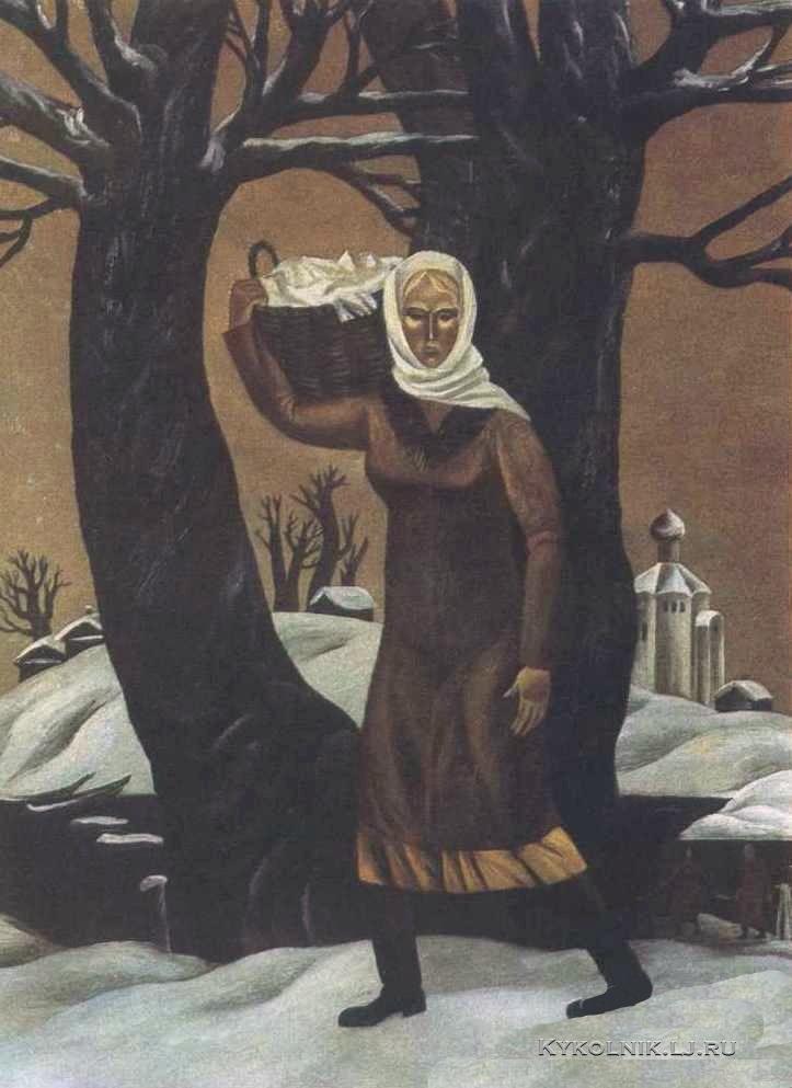 Кулинич Анатолий Васильевич (Россия, 1949) «Прачка» 1982